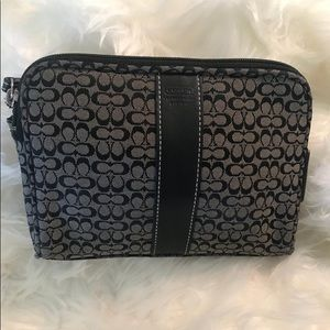 Vintage COACH black/grey make up 💄💋 bag